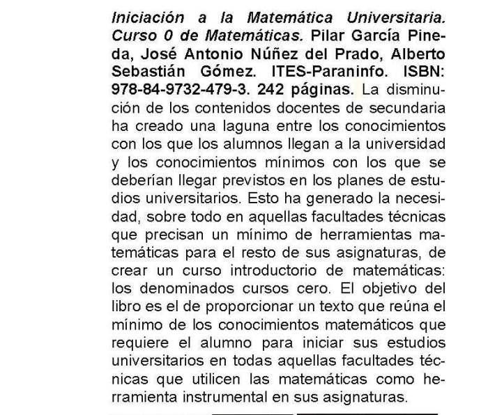 Boletín Informativo de la Sociedad Matemática de Profesores de Cantabria (SMPC)