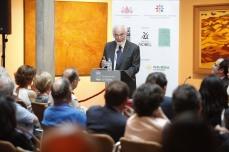JUAN PEDRO APARICIO. Entrega del Premio Int. de Ensayo Jovellanos (J. Pedro Aparicio) y el Premio Int. de Poesía (Celia Corral), en el museo Casa Natal. © JORGE PETEIRO. Gijón, 28/06/2016.